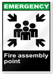 Fire Assembly Point Emergency Signs