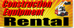Construction Equipment Rental Banners
