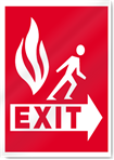 Exit Fire Signs