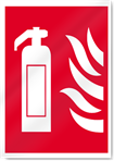 Extinguisher Flames Fire Signs