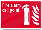 Fire Alarm Call Point Fire Signs