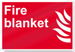 Fire Blanket Fire Sign