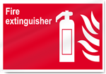 Fire Extinguisher Fire Sign