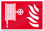 Fire Hose And Flames Symbol Fire Sign