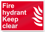 Fire Hydrant Keep Clear Fire Sign