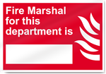 Fire Marshal For This Department Is Fire Sign