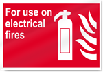 For Use On Electrical Fires Fire Signs
