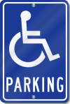 Handicapped Parking Sign With Symbol