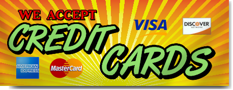 We Accept Credit Cards Banner