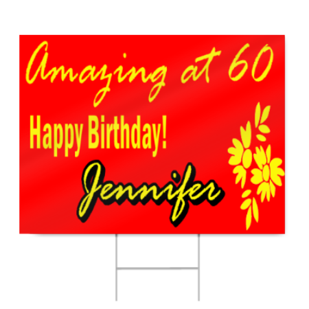 60th happy birthday sign signstoyou com