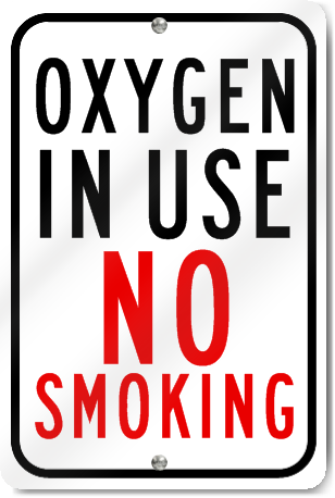 oxygen in use sign pdf