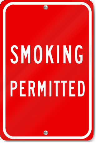 Smoking Permitted Sign - SignsToYou.com