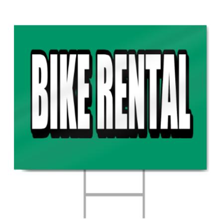 Bike Rental Block Letters Sign Signstoyou Com