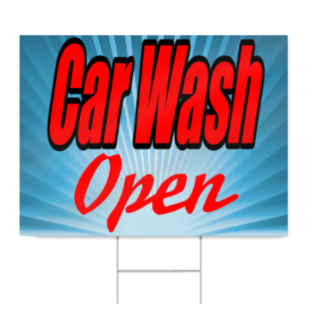 Car Wash Open Sign Signstoyou Com