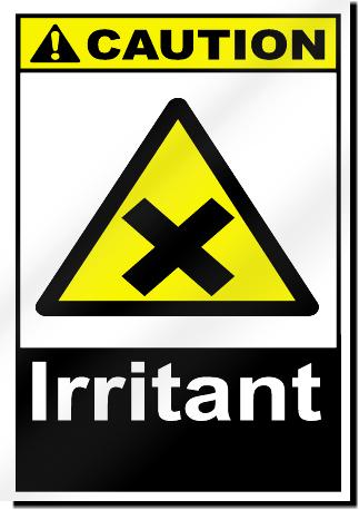 Indoor Vehicle Storage >> Irritant Caution Signs | SignsToYou.com