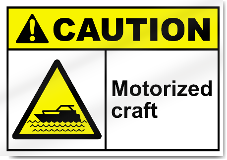 Motorized Craft Caution Signs