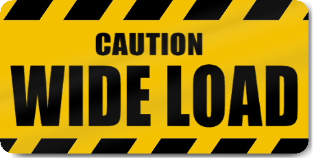 Wide Load Sign >> Caution Wide Load Vehicle Magnet Signstoyou Com