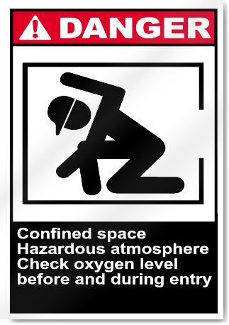 Confined Space Hazardous Atmosphere Danger Signs