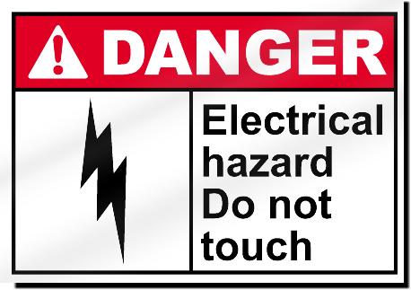 Electrical Hazard Do Not Touch Danger Sign