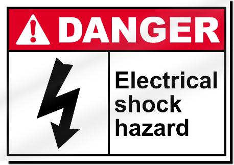 Electrical Shock Hazard Danger Signs Signstoyou Com