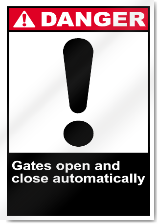 Gates Open And Close Automatically Danger Signs