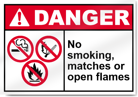 no matches sign