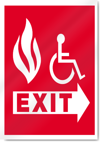 Exit Disabled Fire Signs