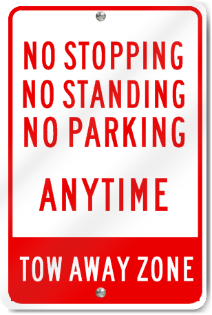 No Stopping No Standing No Parking Metal Sign Signstoyou Com