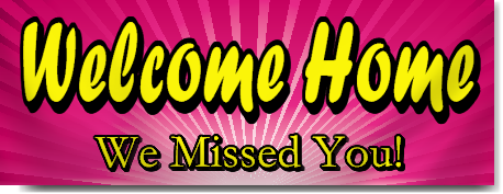 Hospital Welcome Home Banners In Pink Signstoyou Com