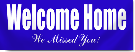 Welcome Home From Hospital Banners In Blue Signstoyou Com