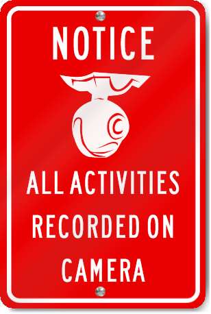 Notice All Activities Recorded On Camera Sign Signstoyou Com