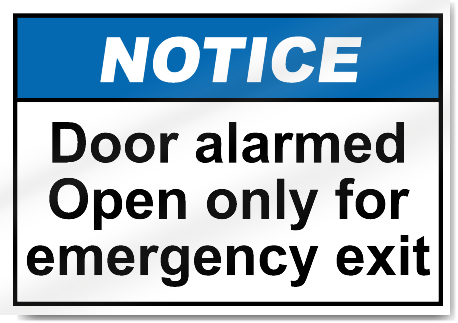 how to tell if a door is alarmed