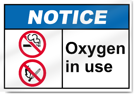 Geeky image for oxygen in use sign printable