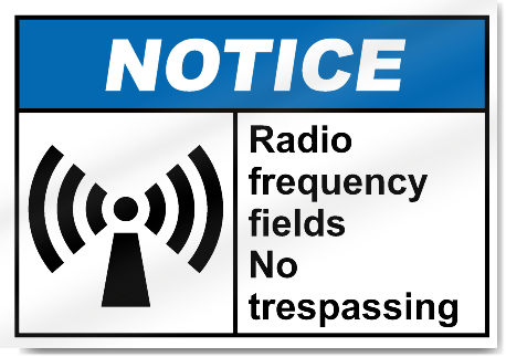 trespass notice template - radio frequency fields no trespassing notice signs