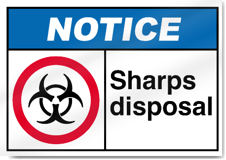 Sharps Disposal2 Notice Signs