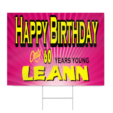 pink 60th birthday sign signstoyou com