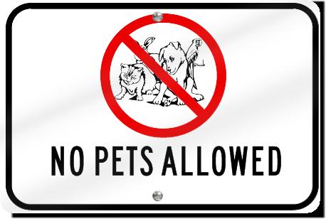 horizontal no pets allowed playground sign signstoyou com
