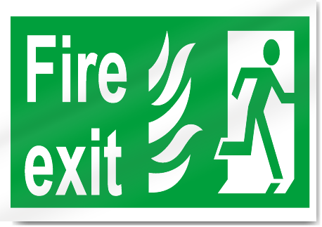 Fire Exit Right Safety Signs