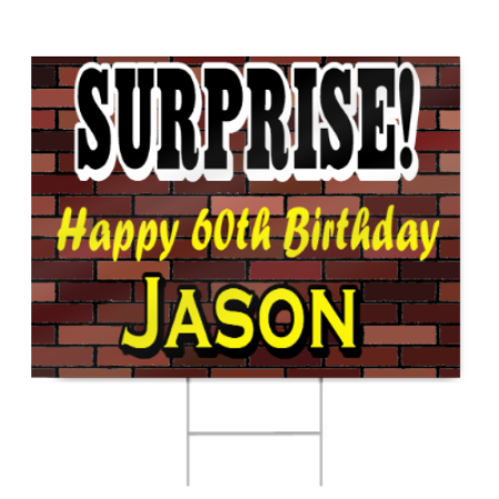 surprise 60th birthday sign signstoyou com