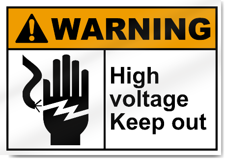 high voltage keep out warning signs | signstoyou
