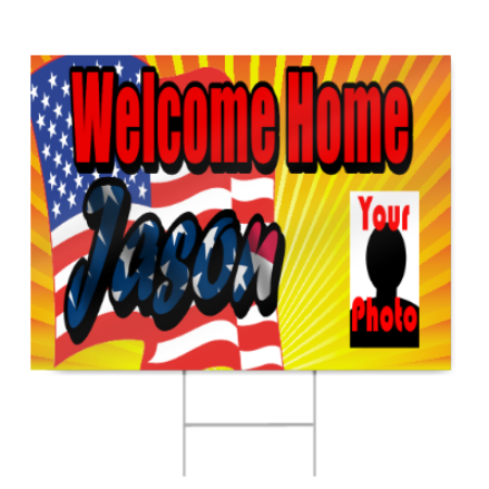 Welcome Home Sign for Air Force