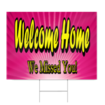 Hospital Welcome Home Sign in Pink