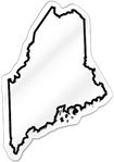 Maine Shaped Magnet