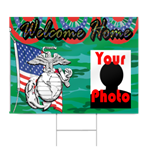 Marine Welcome Home Sign in Camo