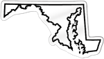 Maryland Shaped Magnet
