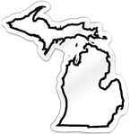 Michigan Shaped Magnet