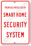 Smart Home Security System Sign