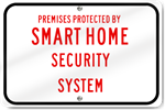 Horizontal Smart Home Security System Sign
