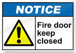 Fire Door Keep Closed Notice Signs