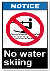 No Water Skiing Notice Signs